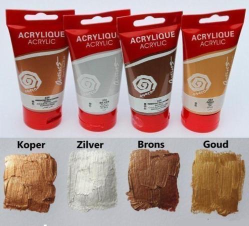 4 Tubes metallic acrylverf