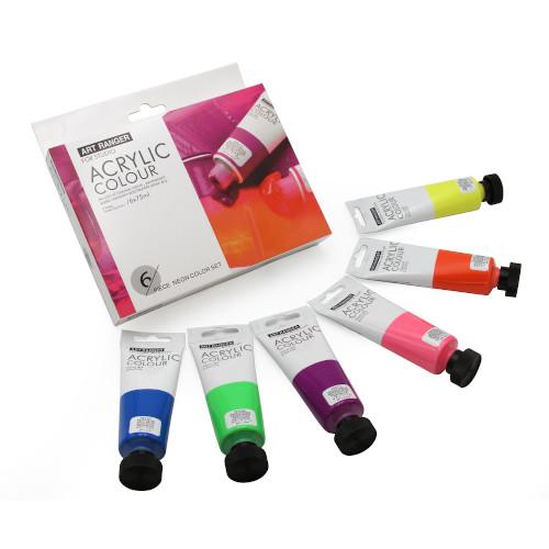Acrylverf set neon 6x75ml