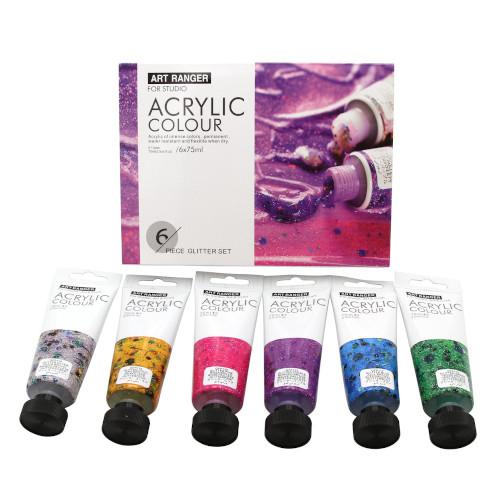Acrylverf set Glitter 6x75ml